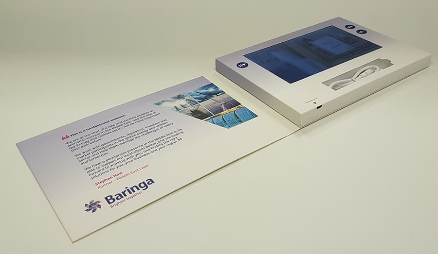 A5 Video brochure 7 inch screen recess for cable